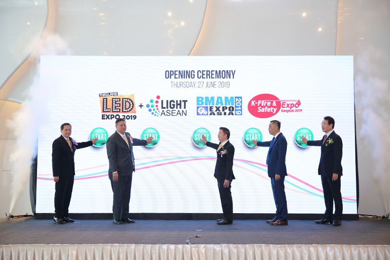 Synergy between BMAM Expo Asia 2019, K-Fire & Safety Expo Bangkok 2019 and LED Expo Thailand 2019 + Light ASEAN